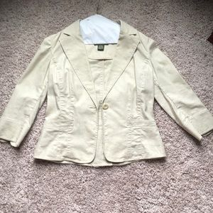 Tan linen jacket